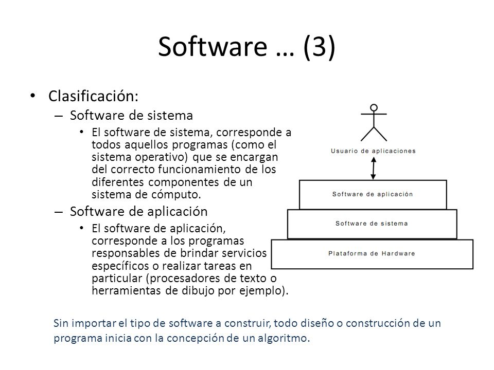 Software … (3) Clasificación: Software de sistema