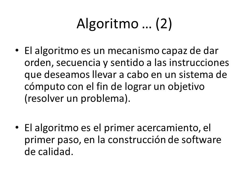 Algoritmo … (2)