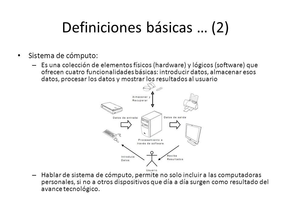 Definiciones básicas … (2)