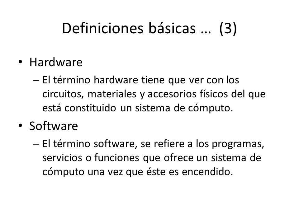 Definiciones básicas … (3)