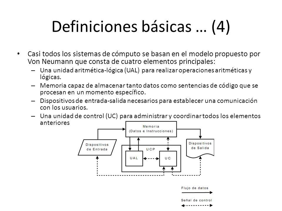 Definiciones básicas … (4)