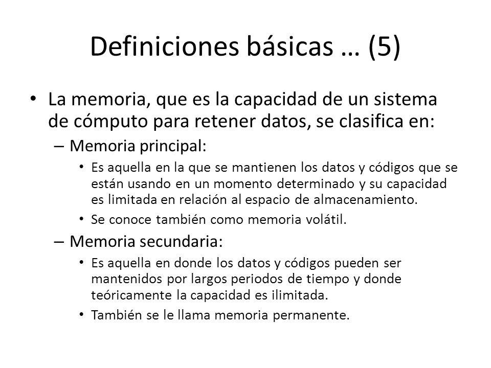 Definiciones básicas … (5)