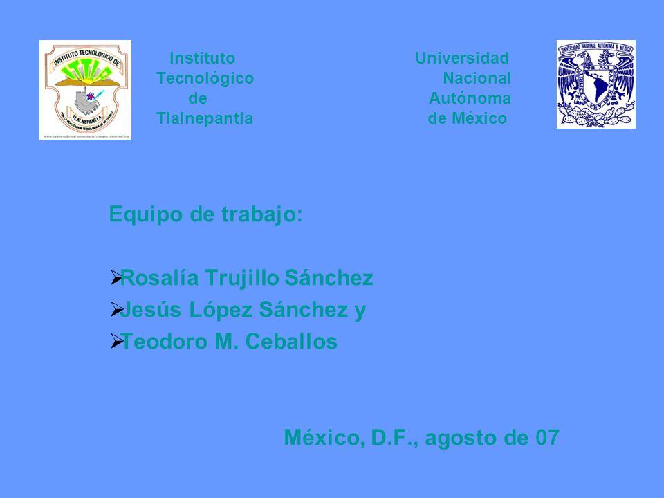 Rosalía Trujillo Sánchez Jesús López Sánchez y Teodoro M. Ceballos