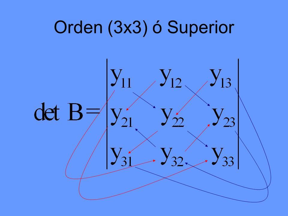 Orden (3x3) ó Superior