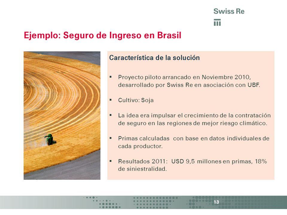 Ejemplo: Seguro de Ingreso en Brasil