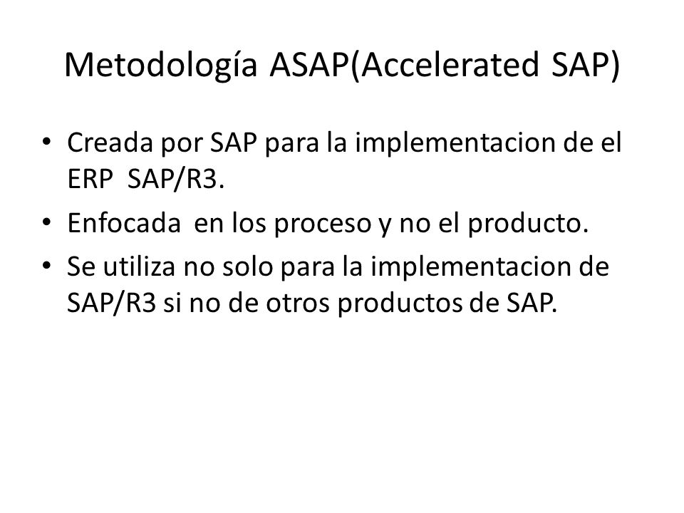 Metodología ASAP(Accelerated SAP)