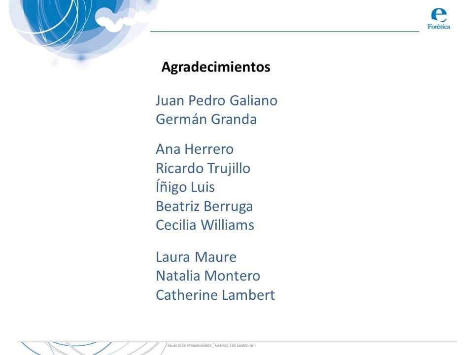 Agradecimientos Juan Pedro Galiano. Germán Granda. Ana Herrero. Ricardo Trujillo. Íñigo Luis. Beatriz Berruga.