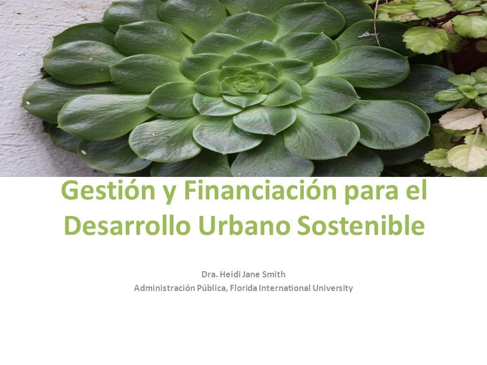 Gestión y Financiación para el Desarrollo Urbano Sostenible