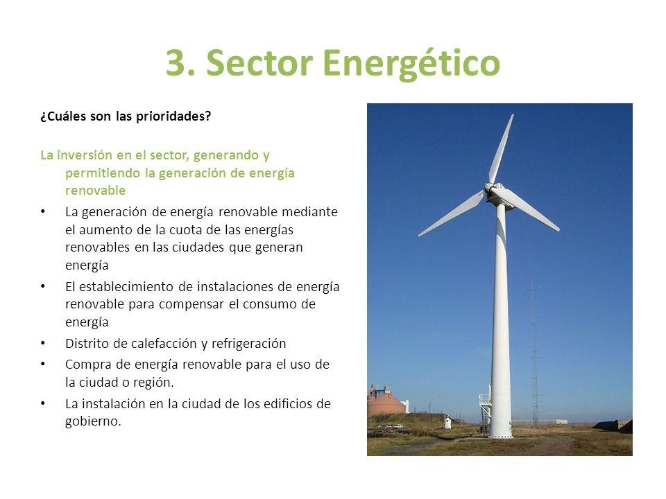 3. Sector Energético ¿Cuáles son las prioridades