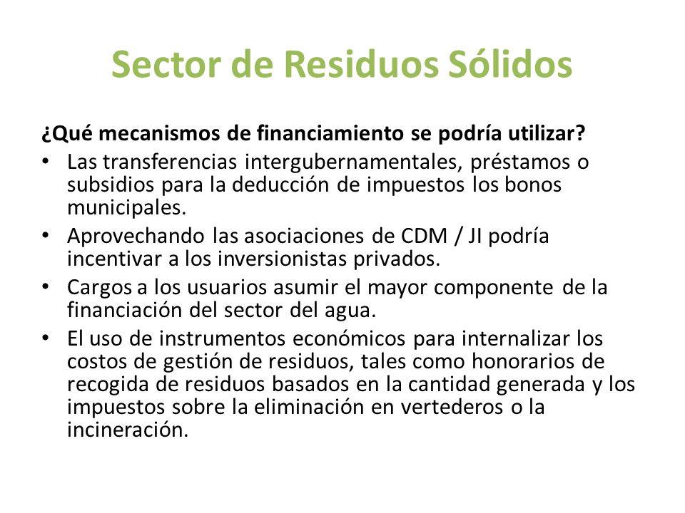 Sector de Residuos Sólidos