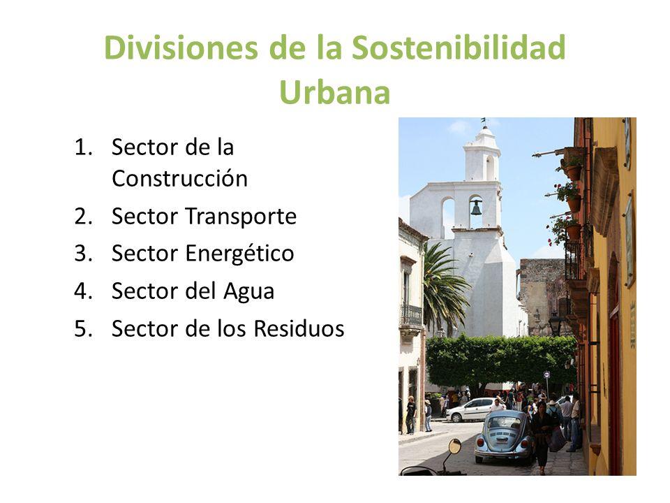 Divisiones de la Sostenibilidad Urbana