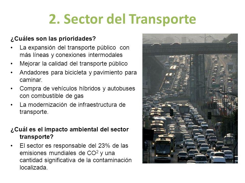 2. Sector del Transporte ¿Cuáles son las prioridades