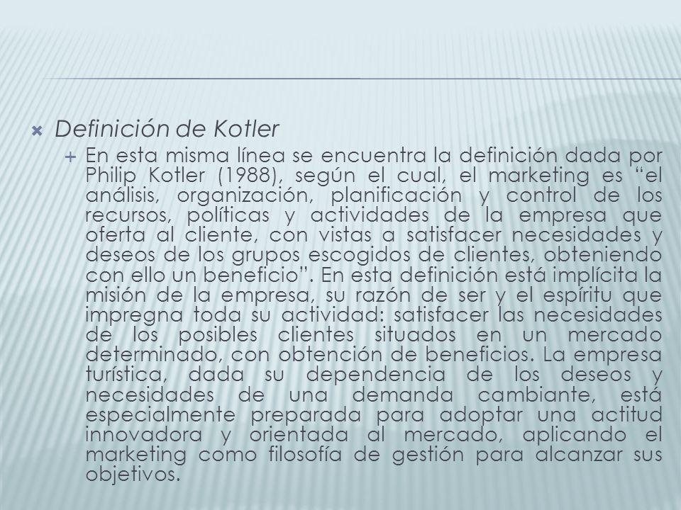 Definición de Kotler