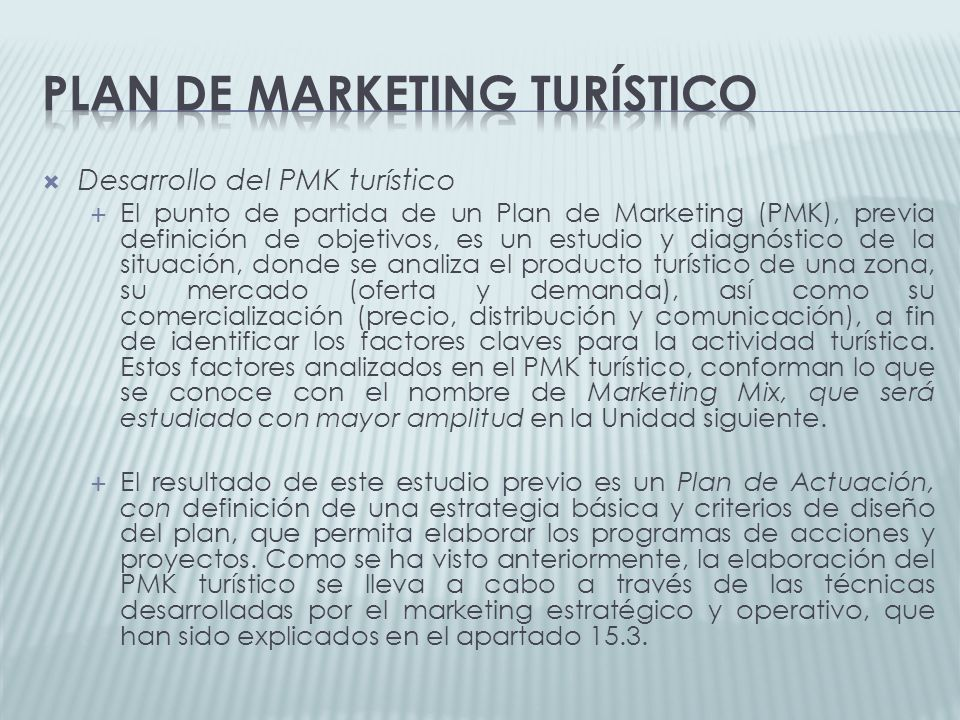 Plan de marketing turístico