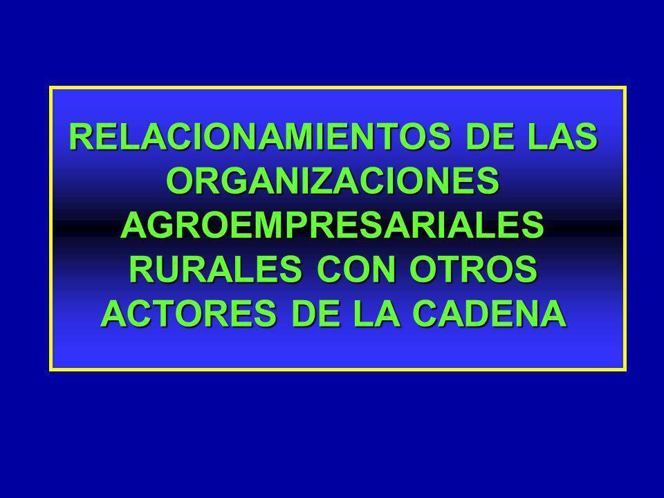 RELACIONAMIENTOS DE LAS ORGANIZACIONES AGROEMPRESARIALES RURALES CON OTROS ACTORES DE LA CADENA