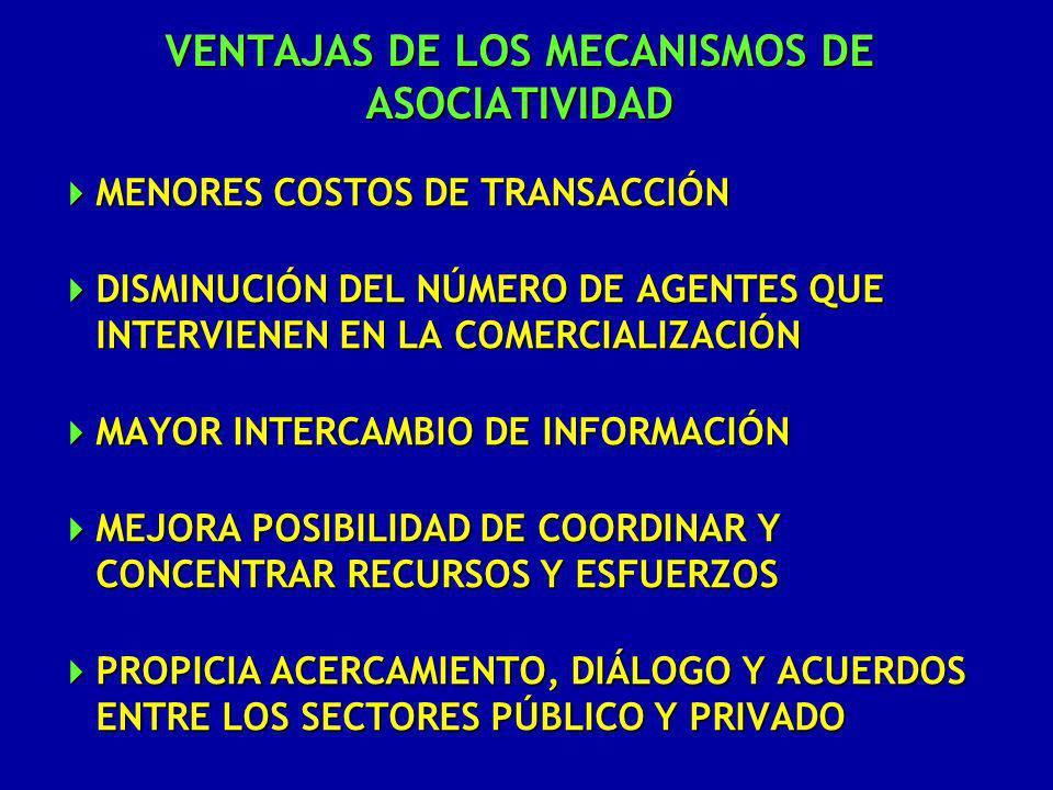 VENTAJAS DE LOS MECANISMOS DE ASOCIATIVIDAD