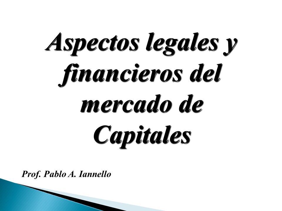 Aspectos legales y financieros del mercado de Capitales