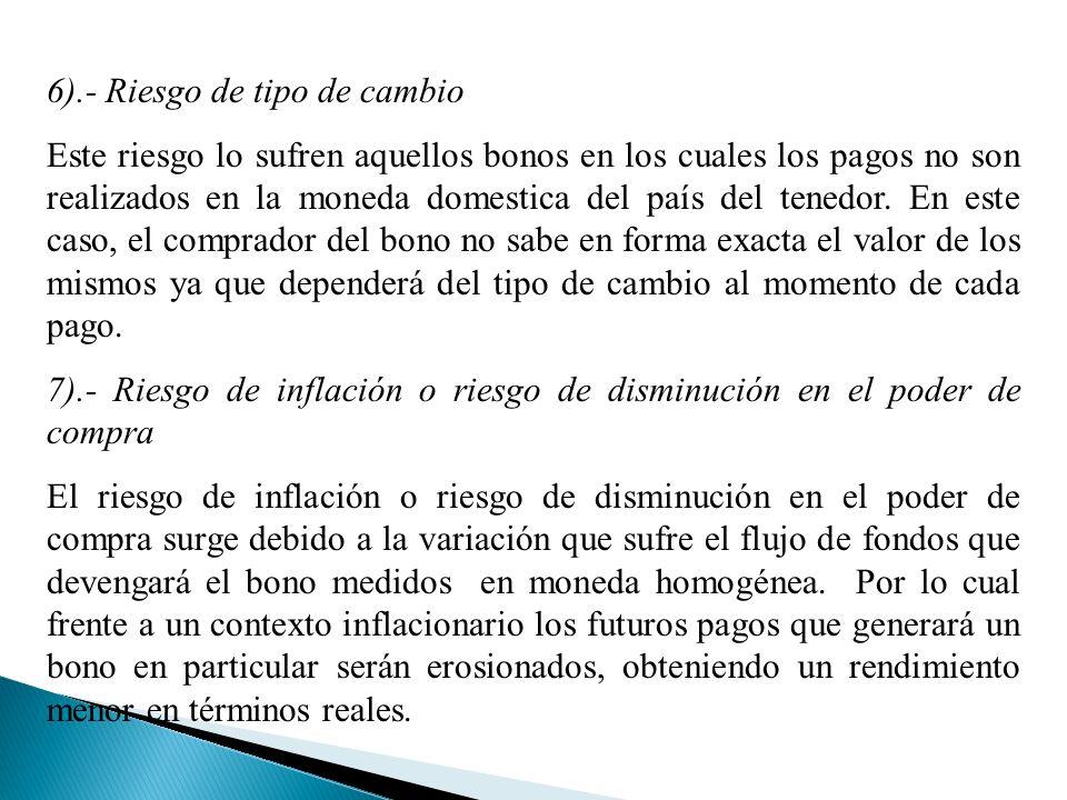 6).- Riesgo de tipo de cambio