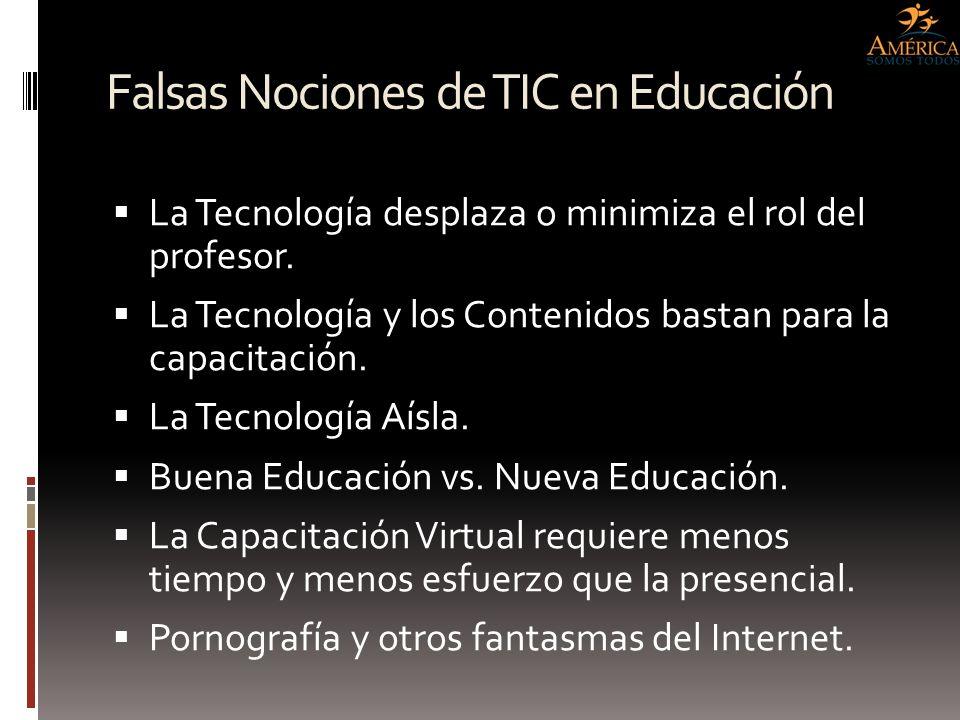Falsas Nociones de TIC en Educación