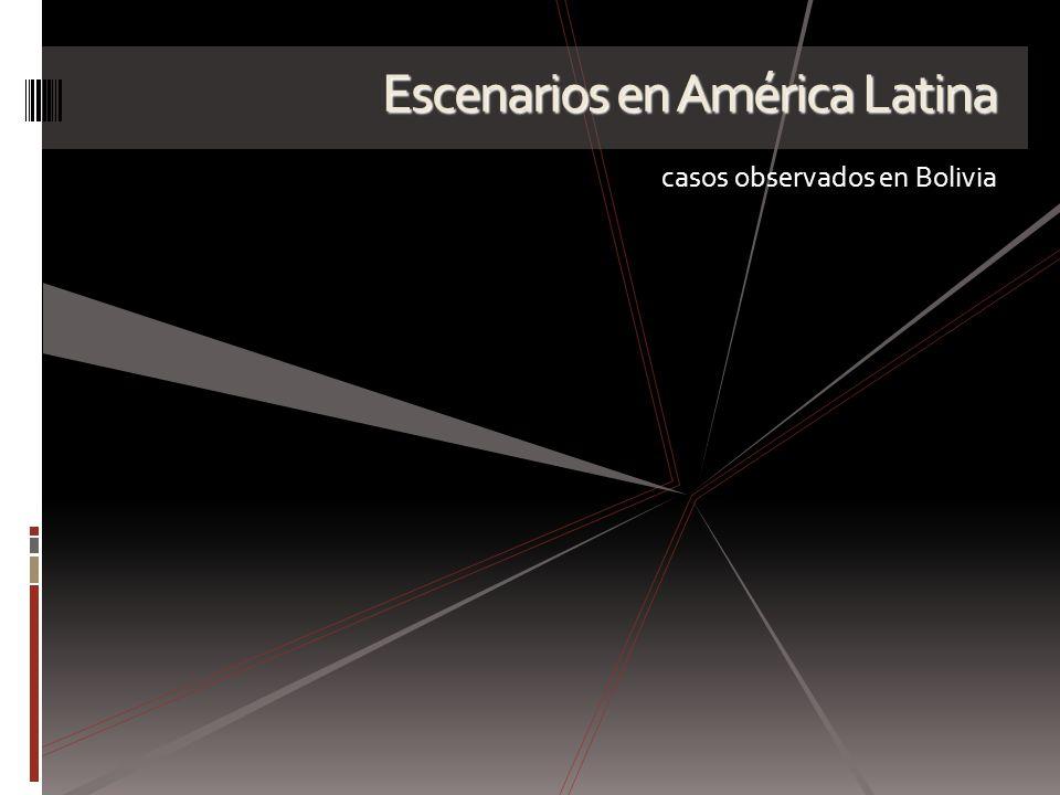 Escenarios en América Latina