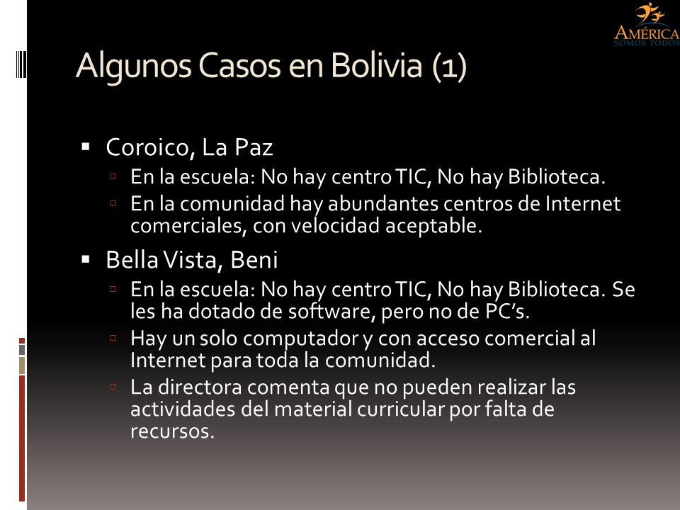 Algunos Casos en Bolivia (1)