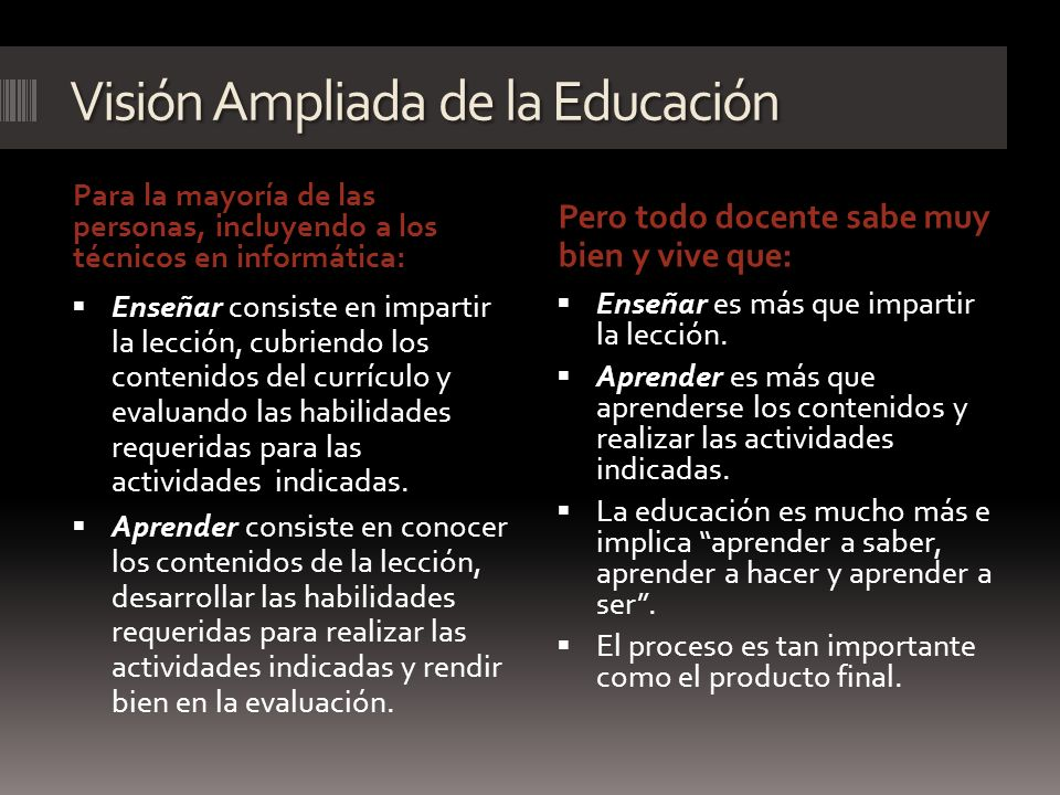 Visión Ampliada de la Educación