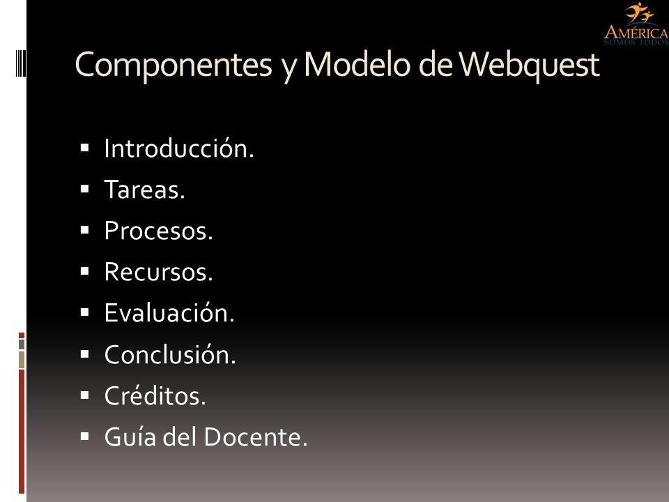 Componentes y Modelo de Webquest