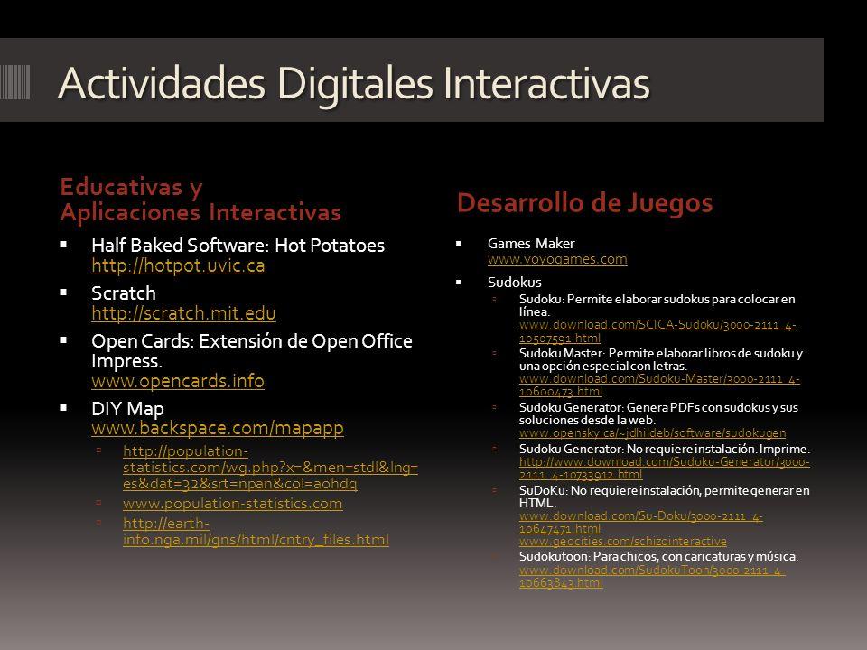 Actividades Digitales Interactivas