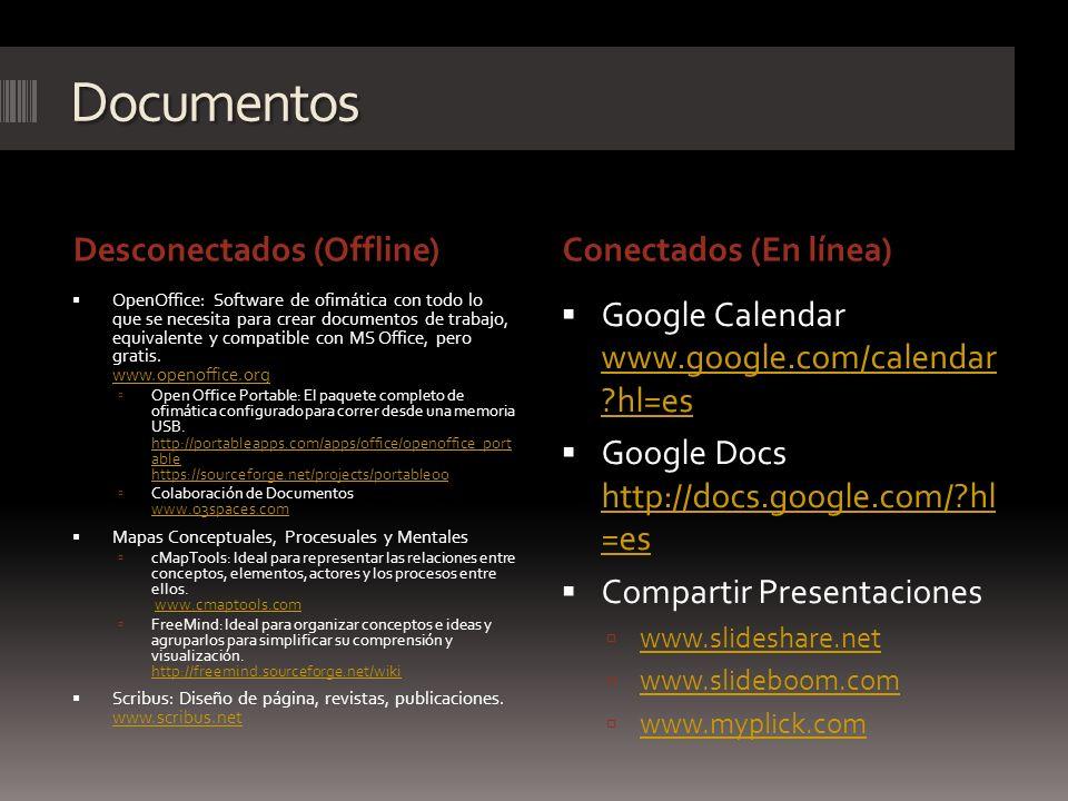 Documentos Desconectados (Offline) Conectados (En línea)