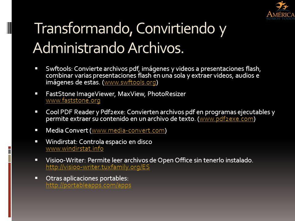 Transformando, Convirtiendo y Administrando Archivos.