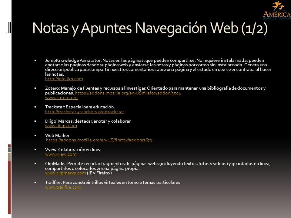 Notas y Apuntes Navegación Web (1/2)
