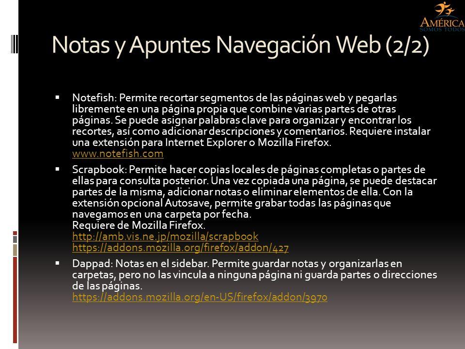 Notas y Apuntes Navegación Web (2/2)