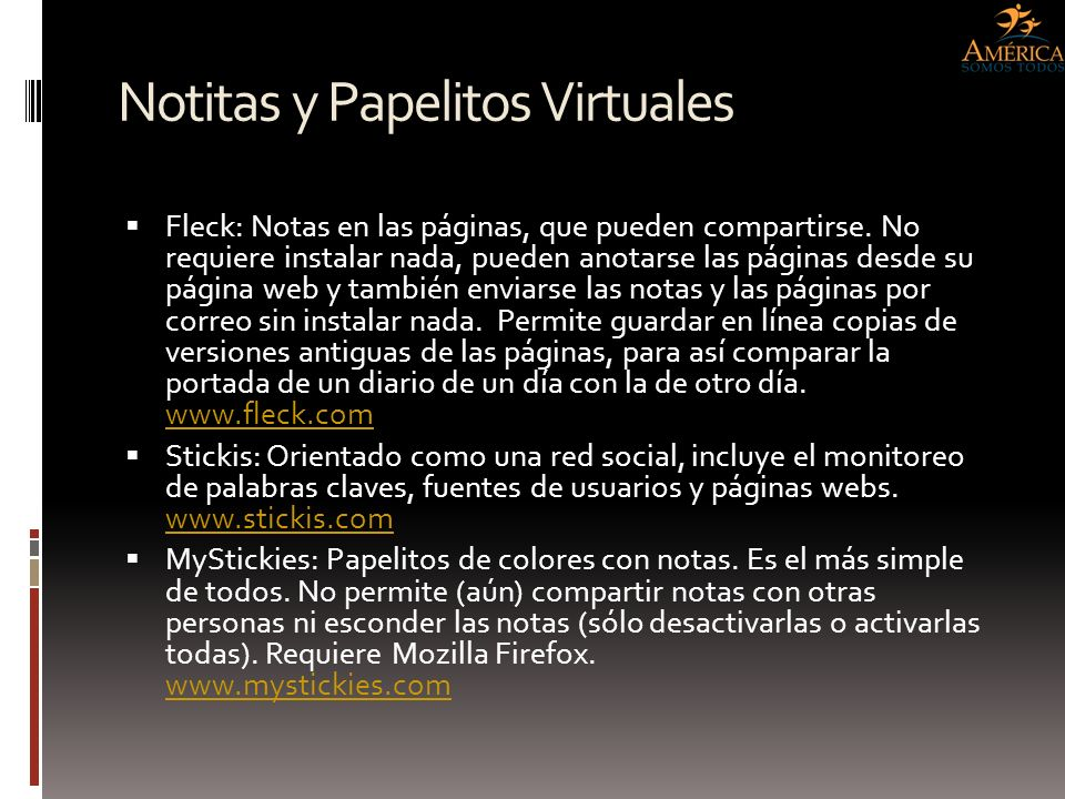 Notitas y Papelitos Virtuales