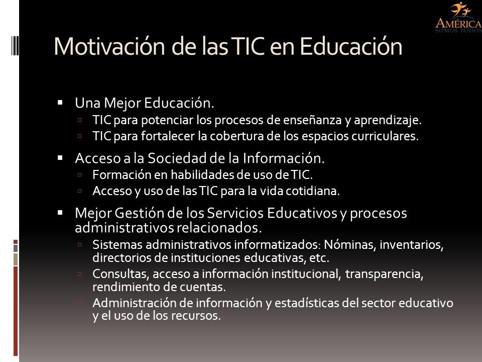 Motivación de las TIC en Educación