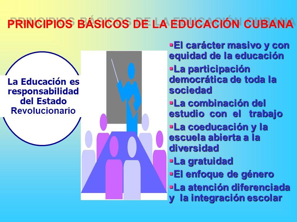 La Educación es responsabilidad del Estado Revolucionario