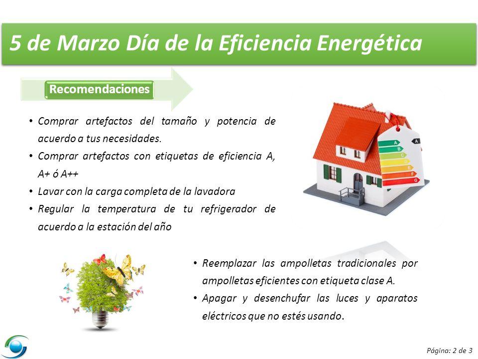 5 de Marzo Día de la Eficiencia Energética
