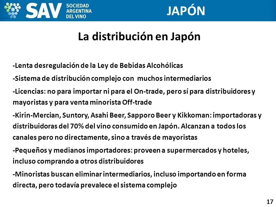 La distribución en Japón