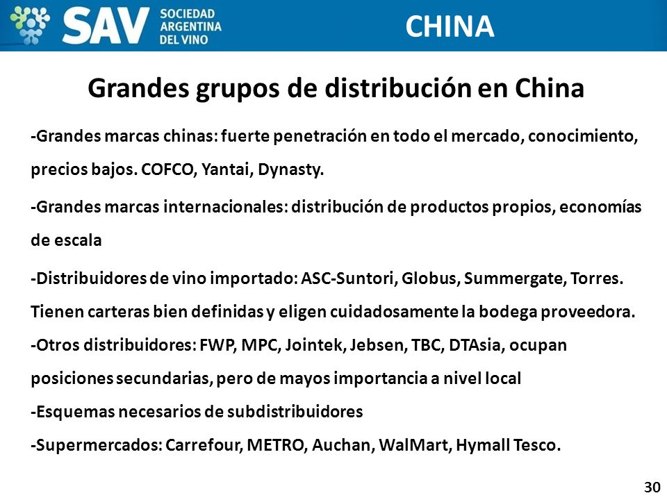 Grandes grupos de distribución en China