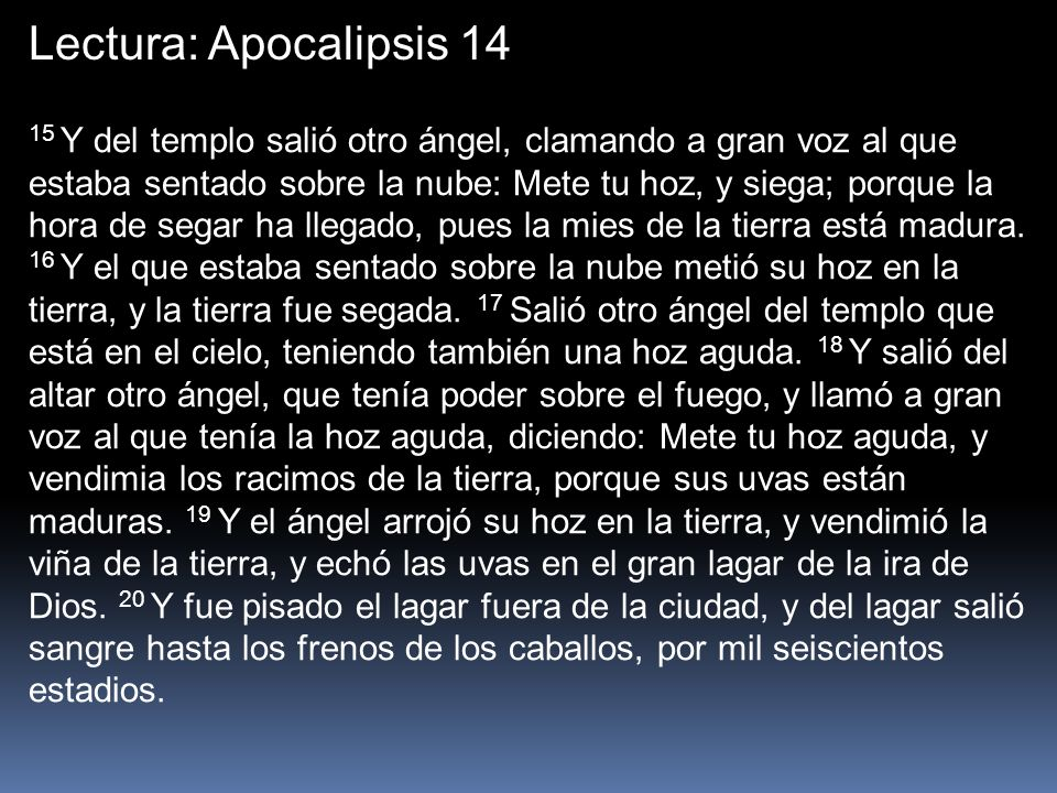 Lectura: Apocalipsis 14