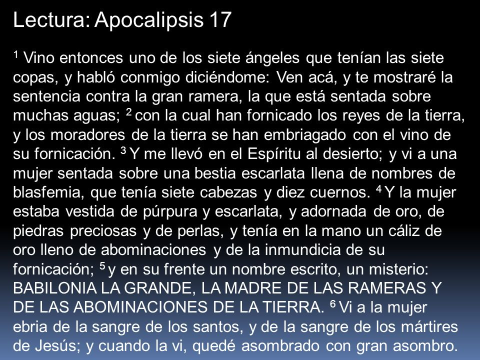 Lectura: Apocalipsis 17