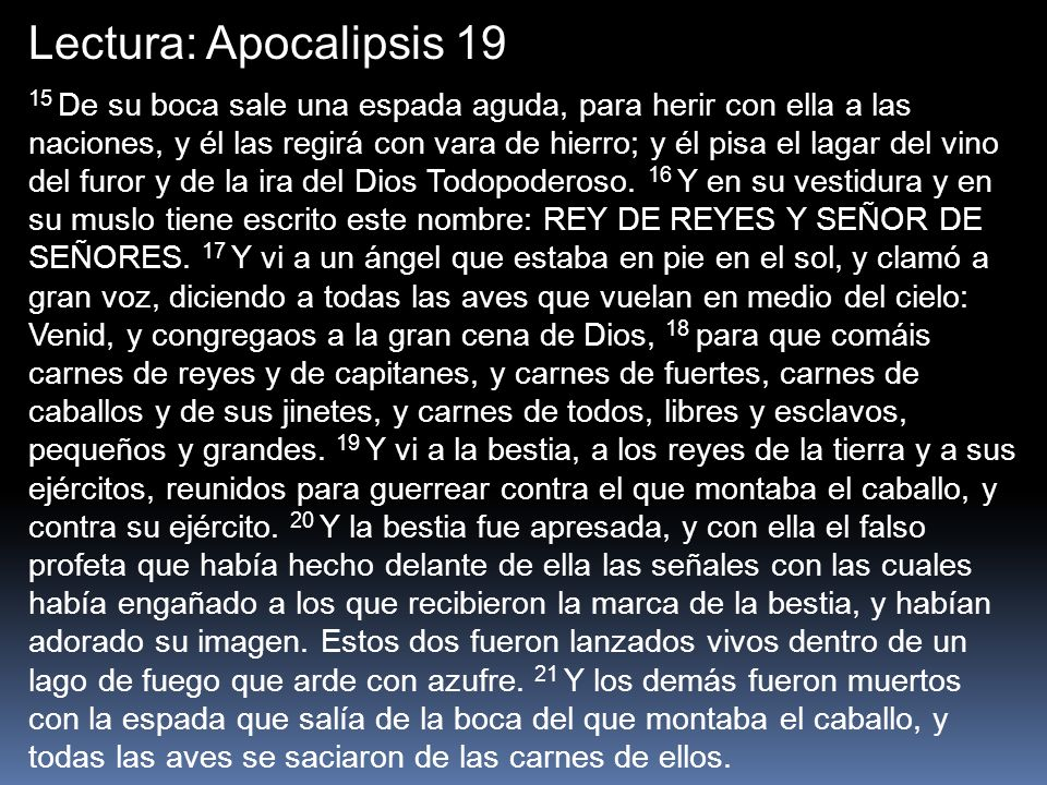 Lectura: Apocalipsis 19