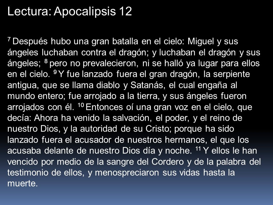 Lectura: Apocalipsis 12