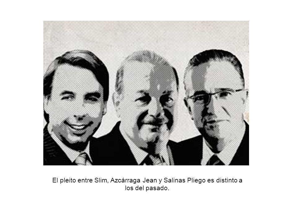 El pleito entre Slim, Azcárraga Jean y Salinas Pliego es distinto a los del pasado.