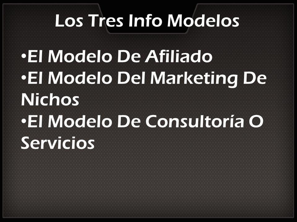 Los Tres Info Modelos El Modelo De Afiliado. El Modelo Del Marketing De Nichos.