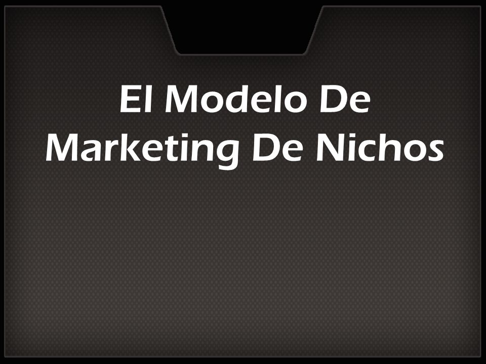 El Modelo De Marketing De Nichos