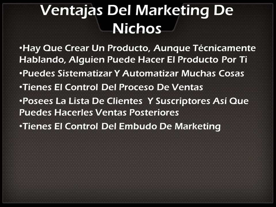 Ventajas Del Marketing De Nichos