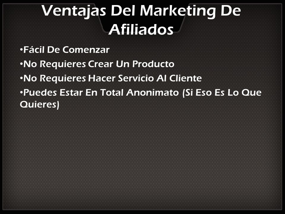 Ventajas Del Marketing De Afiliados