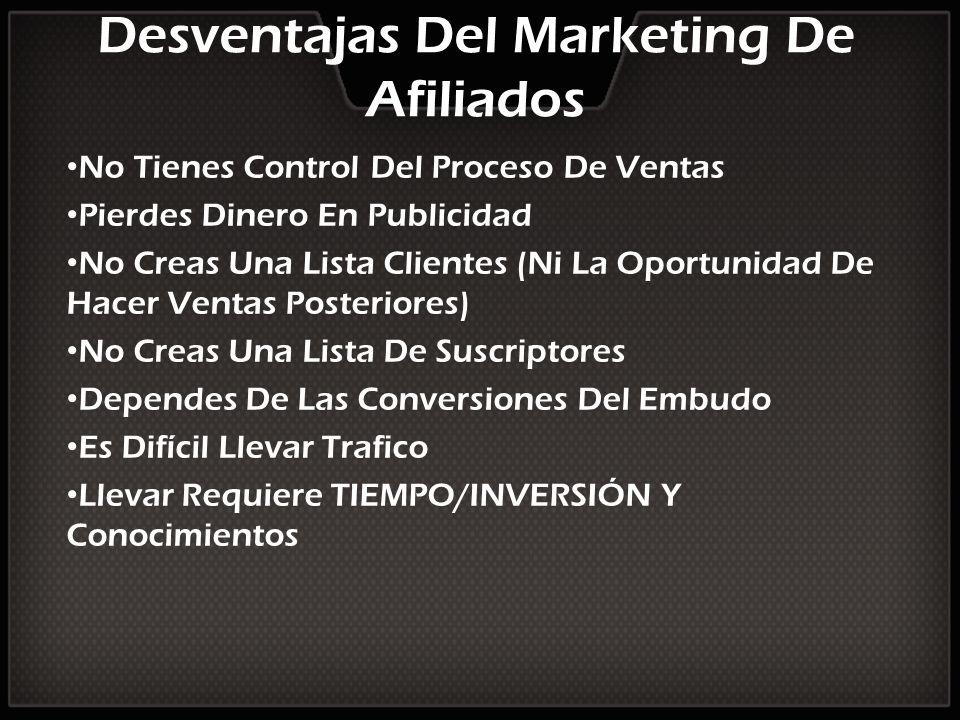 Desventajas Del Marketing De Afiliados
