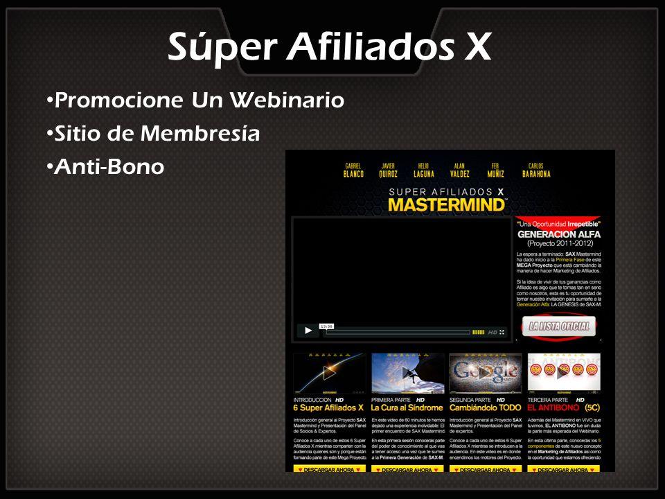 Promocione Un Webinario Sitio de Membresía Anti-Bono