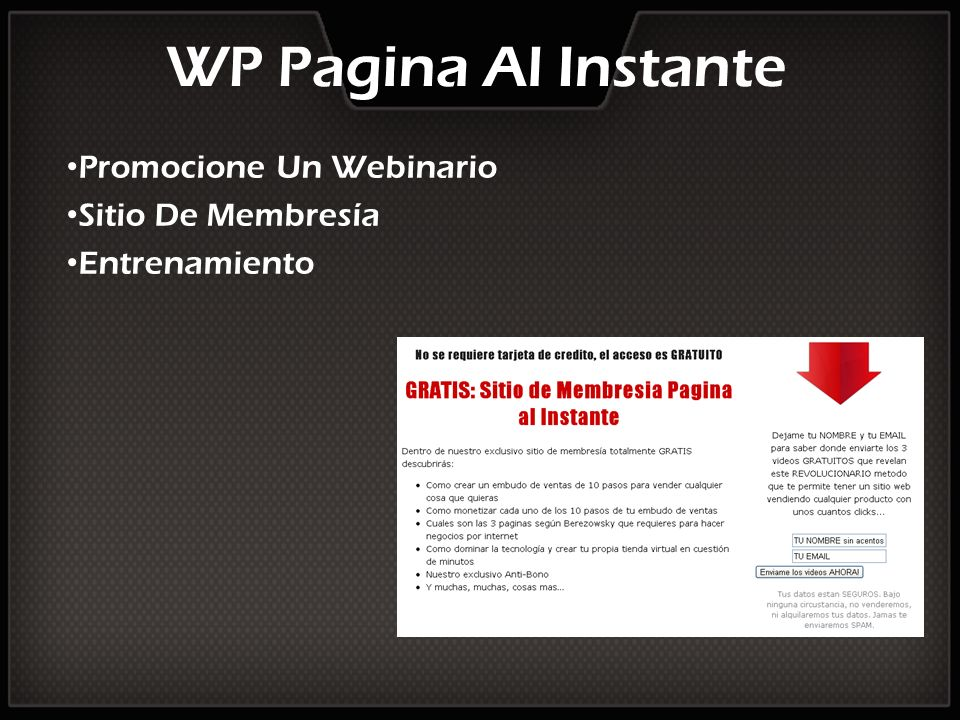 Promocione Un Webinario Sitio De Membresía Entrenamiento